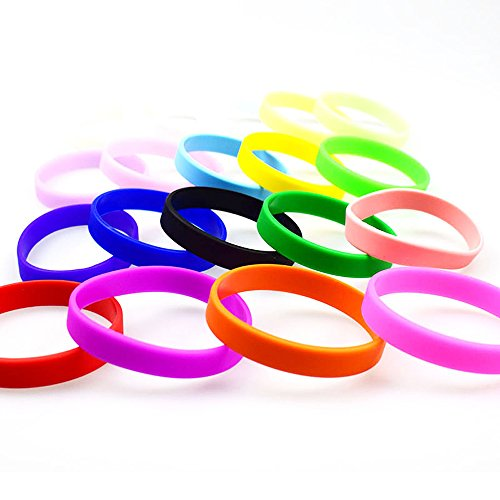 zicheng 12 Pcs Wristbands Silicone Bracelets Adult Mixed Colors Promotional Sports bands Party