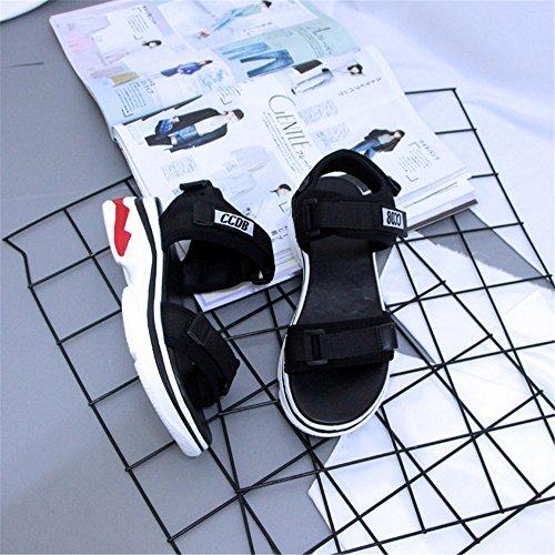 Libre Transpirables Negro EU Femenino y Shymamamiya Confortables 38 Deporte Color Pesado Verano 2 y Fondo Zapatillas Sandalias Tamaño Tiempo de con de 3 Negro xBnZTBq7