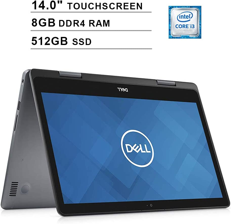 2020 Dell Inspiron 14 2-in-1 14 Inch HD Touchscreen Laptop (Intel Core i3-8145U to 3.9GHz, 8GB RAM, 512GB SSD, WiFi, Bluetooth, HDMI, Windows 10 Home) (Grey)