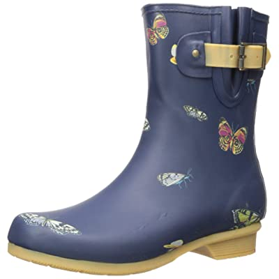 Chooka Women's Mid-Height Printed Rain Boot with Memory Foam Calf | Rain Footwear