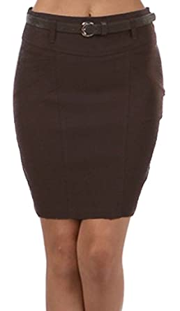 LSShortSeamN4121 Petite Stretch Short Pencil Skirt with Skinny ...