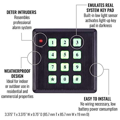 Incredible Amazon Com Sabre Fake Security Key Pad With Built In Low Light Wiring Database Redaterrageneticorg