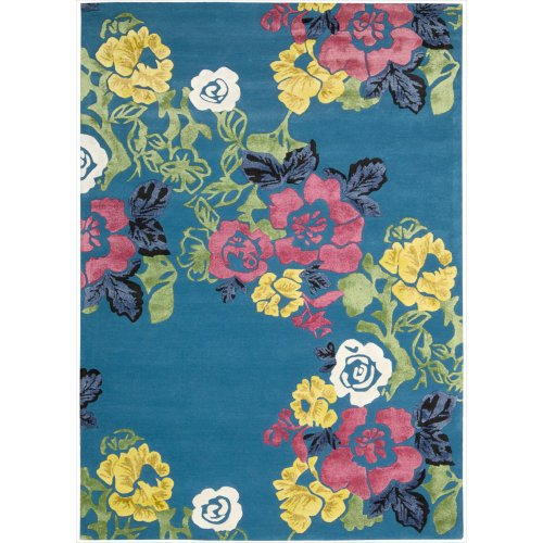 Turquoise Area Rug Amazon Com: Amazon.com: Nourison Wildflower (WIL02) Turquoise