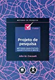 capa de PROJETO DE PESQUISA - METODOS QUALITATIVO, QUANTITATIVO E MISTO