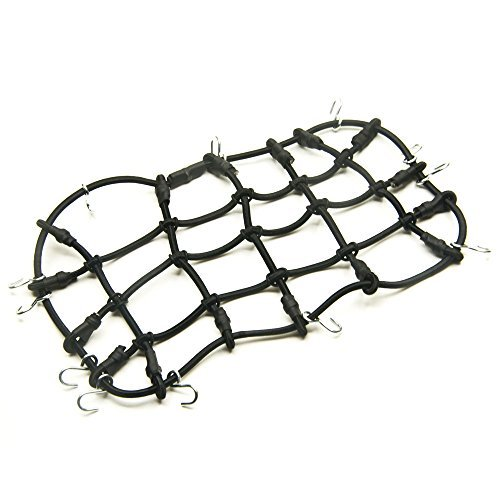 RC-FAST 1/10 RC Elastic Luggage Net 18x9cm with Hook for 1:10th RC Vehicles RC Crawler Truck Car D90 TRX4 Roof Rack
