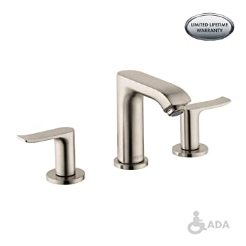 Hansgrohe 31083001 Metris 100 Widespread Faucet Chrome Bathroom
