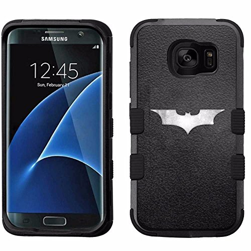 for Samsung Galaxy S7 Edge, Hard+Rubber Dual Layer Hybrid Heavy-Duty Rugged Armor Cover Case - Batman #S at Gotham City Store