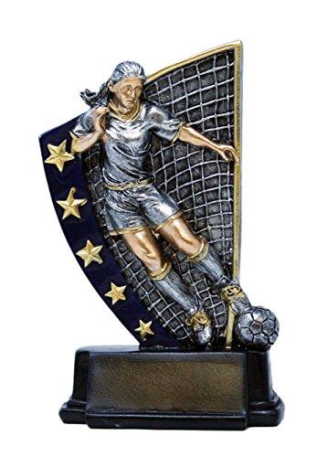 Decade Awards Soccer Rising Star Trophy - Female | Futbol Award | 5.875 Inch Tall - Customize Now