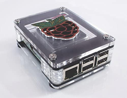 Pi 2 by C4Labs C4 Labs Zebra Inlay Fan Case 3B+ 3 ~ for Raspberry Pi 4B Black Ice