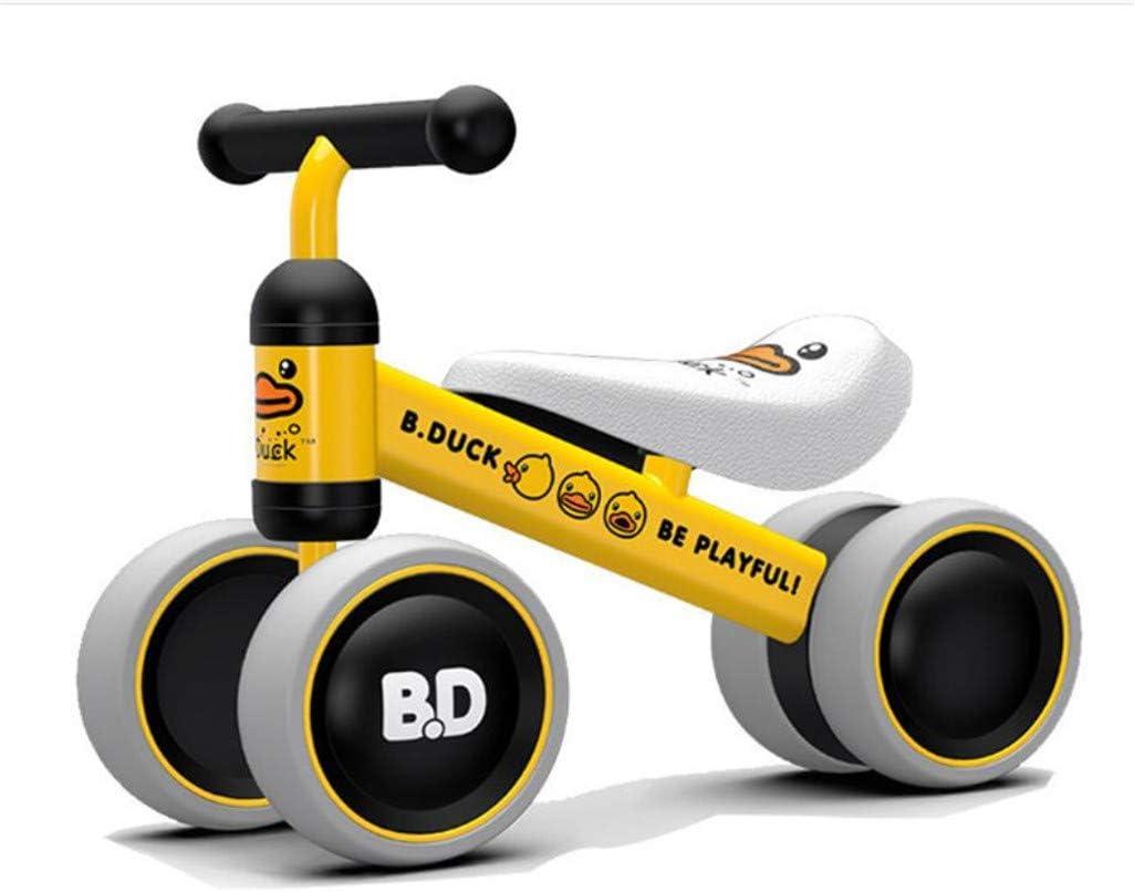 MYMAO 01Bebé Equilibrio Bicicleta, Mini Bicicleta niño Walker Juguete niño Bicicleta sin Pedal Interior al Aire Libre conducción Aprendizaje Juguete 1-3 año Viejo niño y niña,Yellow