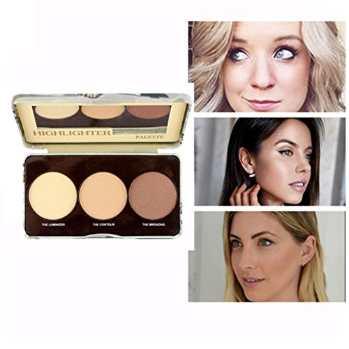 Alonea Concealer Palette, Makeup Face Concealer Matte Powder Easy to Wear Brightening 3 Colors (Multicolor ❤️)