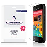 BLU Dash J Screen Protector [3-Pack], iLLumiShield - Japanese Ultra Clear HD Film with Anti-Bubble and Anti-Fingerprint - High Quality Invisible Shield - Lifetime Warranty