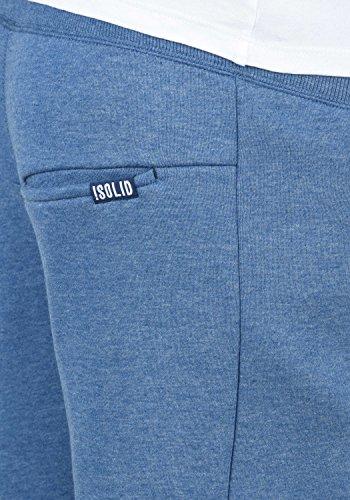 1542m Con Corto Hombre Para Al Benjaminshorts Melange solid Polar Pantalón Sweat Blue Forro Chándal Tacto Suave Faded Bermudas Upx8xHqwT