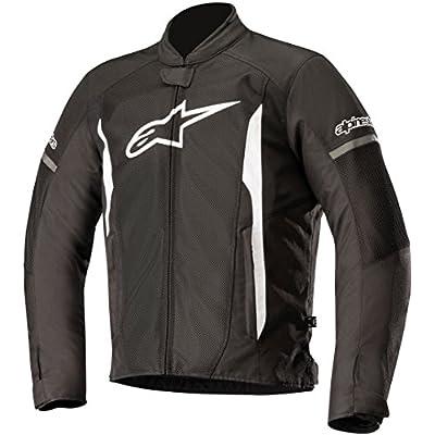 Alpinestars Men's T-Faster Air Motorcycle Jacket, Black/White, Small: Automotive