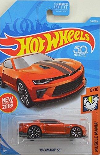 (Hot Wheels 2018 50th Anniversary Muscle Mania '18 Camaro SS 50/365, Orange)