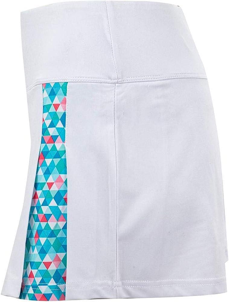 Bolle Women`s Blue Bayou Tennis Skort White and Print
