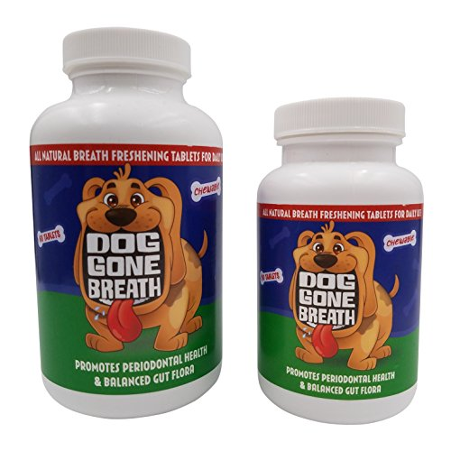 Cheapest Dog Gone Breath All- Natural, Chewable Dog Breath Freshening Treat. The Only gum illness Curing, Bad Breath erasing Prebiotic Pet Remedy Recommended for Daily Use (30 Tablets, 2 Weeks) Check this out.