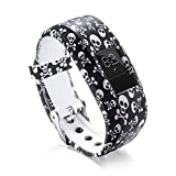 Kanzd Soft Silicone Replacement Strap Accessory Wristbands for Garmin Vivofit 3 (E)