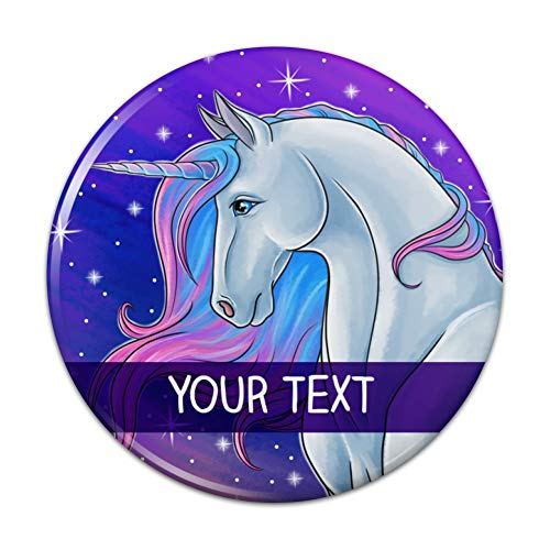 Personalized Custom Majestic Unicorn 1 Line Compact Pocket Purse Hand Cosmetic Makeup Mirror - 3