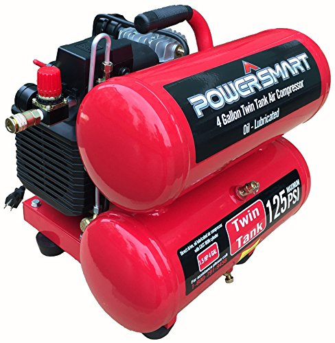 PowerSmart PS60 4 Gallon Electric Air Compressor, Red/Black