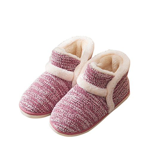 Slippers Women Plush Red House For Fuzzy AGOWOO Boots Bedroom wnTxUOCIqH