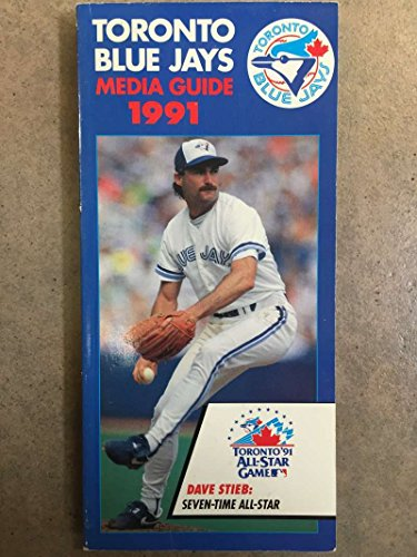 TORONTO BLUE JAYS MLB BASEBALL MEDIA GUIDE ROSTER 1991 - JOE CARTER EX+/NM