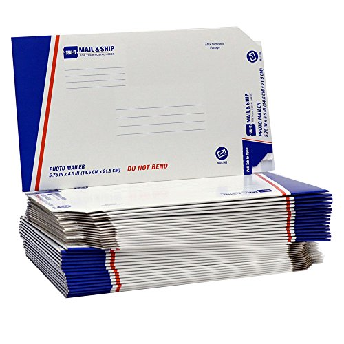 Seal-It Mail & Ship Chipboard Photo/Document Mailer, 5.7 Inches x 8.5 Inches, Pack of - Chipboard Bubble