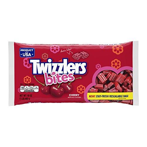 (TWIZZLERS Licorice Bites, 16oz, Halloween Candy, Cherry)