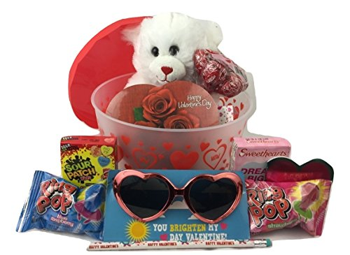 Valentines-Day-Care-Package-with-Chocolates-Candy-and-Sweetie-Bear-Great-Kids-Valentine-Gift-Basket
