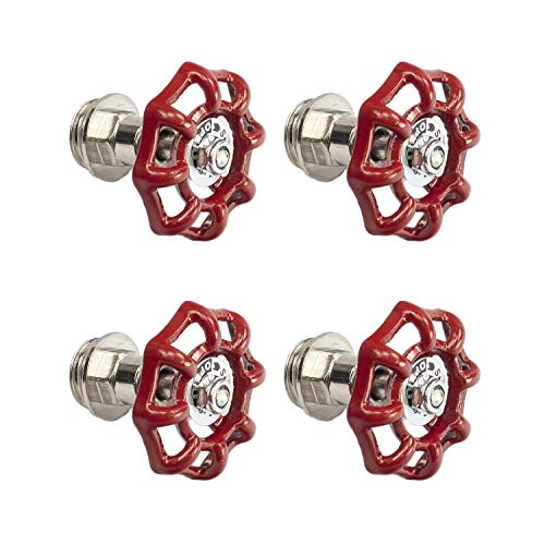 (Cast Iron Valve Pipe Fitting DN15 for DIY Decor or Industrial Vintage Style, Set of 4)