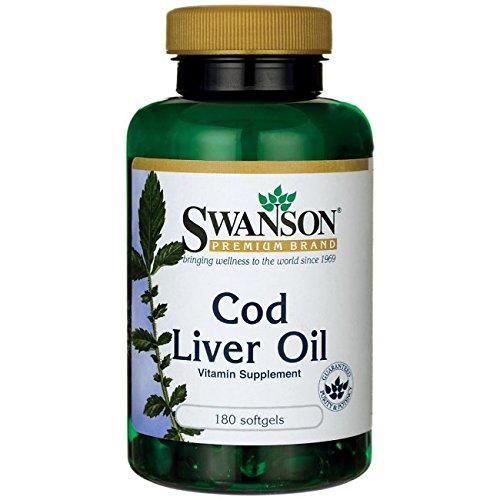 Cheap Swanson Cod Liver Oil 1250 Iu A/135 Iu D 180 Sgels