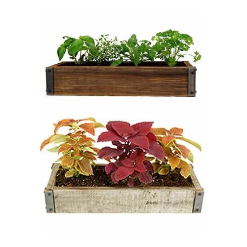 Reclaimed Barnwood Planter Box Weathered Rustic Flower Herb