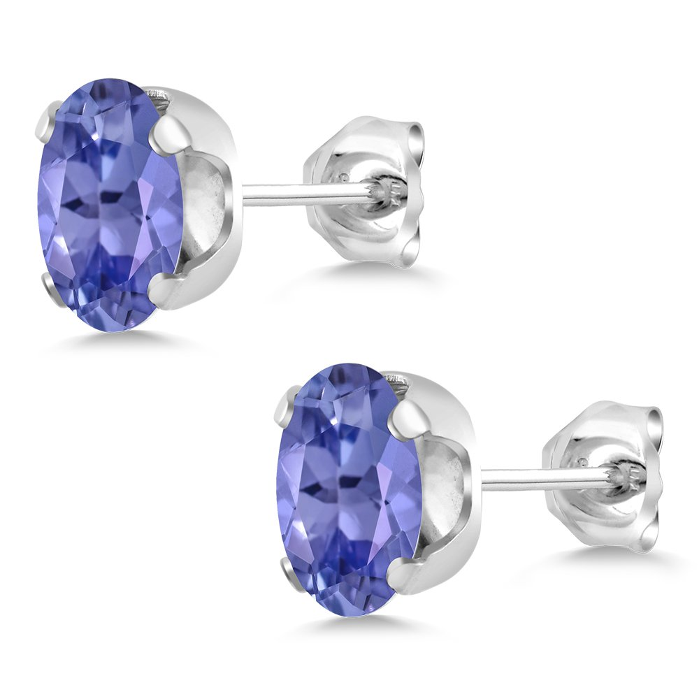 2.32 Ct Oval Blue Tanzanite 925 Sterling Silver Pendant and Earrings Set by Gem Stone King (Image #4)