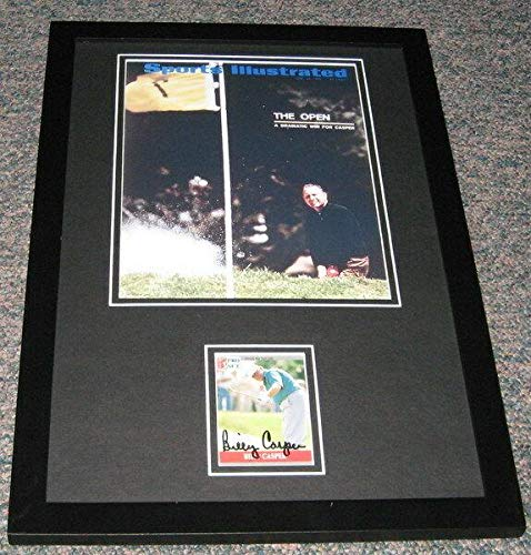 Billy Casper Framed - Billy Casper Signed Framed 11x17 Photo Display - Golf Plaques and Collages