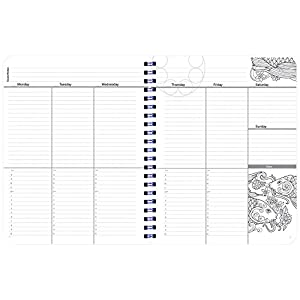 Undated Coloring Day Planner (8.5 x 11 inches) Large - Weekly & Monthly Organizer, Appointment Schedule, Goals and Notes