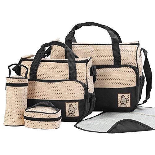 Bag Ensamblados Base Combination Compra Mummy La Bolsa Niños Embarazadas Spaziosa Café Bundle Bolsos De Negro Multifuncional Messenger Hombro dq1R61WP