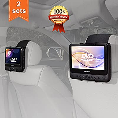 TFY Car Headrest Mount Holder for SYLVANIA SDVD9805 Portable DVD Player (Also fit all 7 inch - 10 inch Swivel Screen Portable DVD Player) from TFY