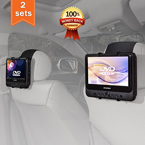Car Dvd Headrest (TFY Car Headrest Mount Holder for SYLVANIA SDVD9805 Portable DVD Player (Also fit all 7 inch - 10 inch Swivel Screen Portable DVD Player))