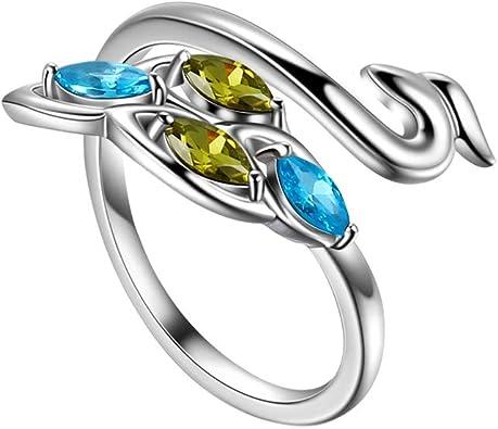 Dainty Womens Ring,Handmade Sterling Silver Zircon Ring,Raw Gemstone Ring,Snake Ring Gemstone,Best Friend Rings
