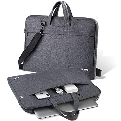 V Voova 17 17.3 Inch Laptop Bag Slim Waterproof Laptop Carrying Case with Strap Large Sleeve Briefcase Compatible with MacBook Pro 17