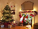 """Hontex 18"""" Christmas Stockings Decoration with 3D"""