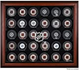 NHL 30 Hockey Puck Logo Display Case Color: Mahogany