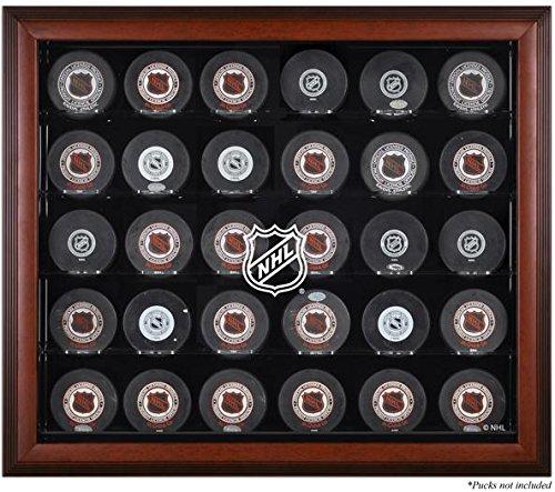 NHL 30 Hockey Puck Logo Display Case Color: Mahogany