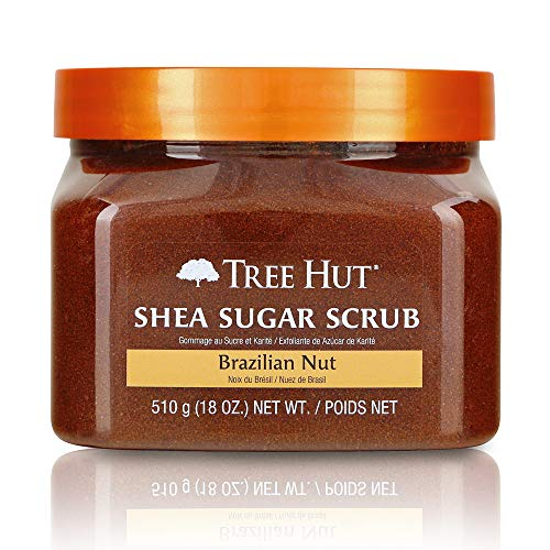 (Tree Hut Shea Sugar Scrub Brazilian Nut, 18oz, Ultra Hydrating and Exfoliating Scrub for Nourishing Essential Body Care (Pack of)