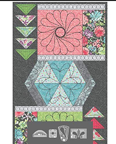 Westalee 4pc Meadow Dance Feather Focus Template Set - WT-MDFF-LA by Westalee