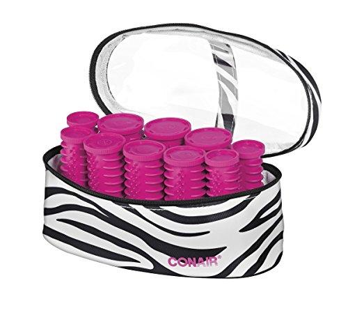 Conair Instant Heat Compact Hot Rollers; Zebra