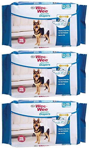 - (3 pack) Wee-Wee Products Disposable Dog Diapers Large/XL