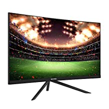 """VIOTEK GN24C 24"""" Curved Monitor, Bezel-less Frame w/ Built-in Speakers-Full HD 1080p Monitor with 144Hz Refresh Rate, HDMI, DP & VESA"""