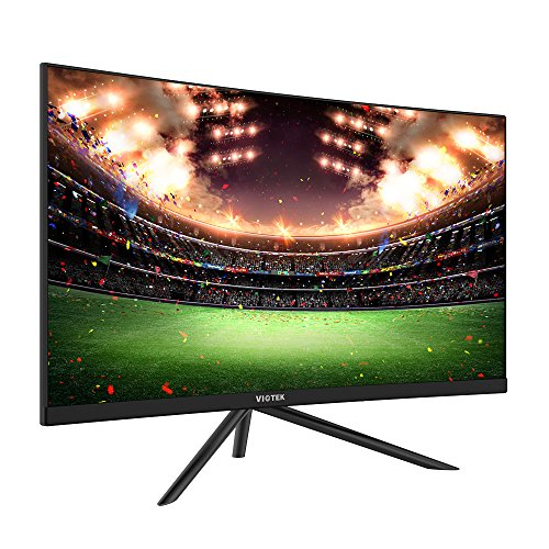 Viotek GN24C 24 Inch 144hz Curved Gaming Monitor, Bezel-less Samsung VA Panel w/Built-in Speakers-Full HD 1080P Monitor with 144Hz Refresh Rate, HDMI, DP & VESA