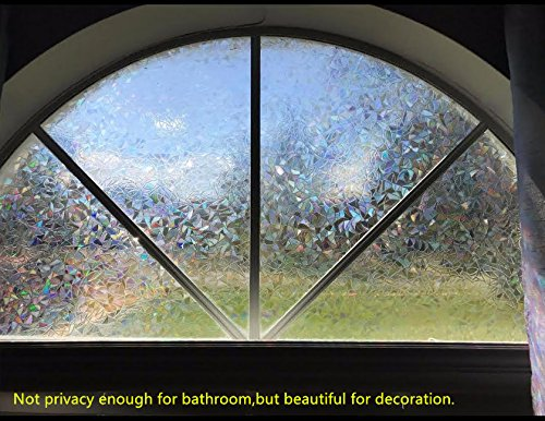 3d Decorative Window Film Clear Glass Film Rainbow Effect